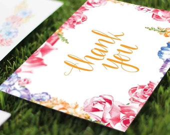 Thank you card // Wedding thank you // Floral Affair