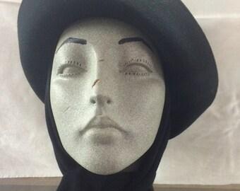 Womens Saks 5th Ave Black Hat