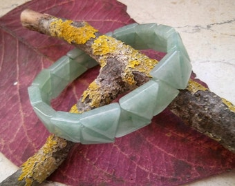 Aventurine, triangles, bracelet, Bangle
