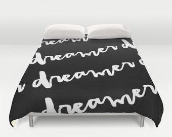 Duvet Cover, Black and White, Dorm Decor, Teen Room Decor, Girls Bedding, Kids Bedroom Decor, Queen Duvet Cover, King Duvet Cover, Twin