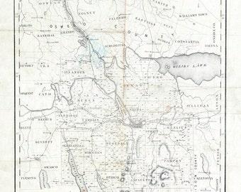 1848 Map of Onondaga County New York