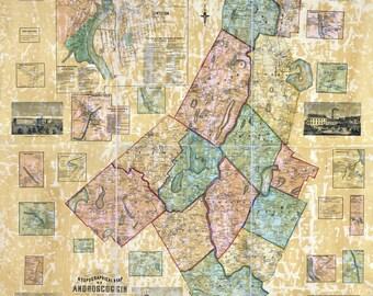 1858 Map of Androscoggin County Maine