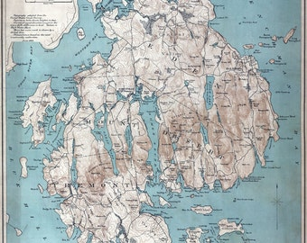1893 Map of Mount Desert Island Maine