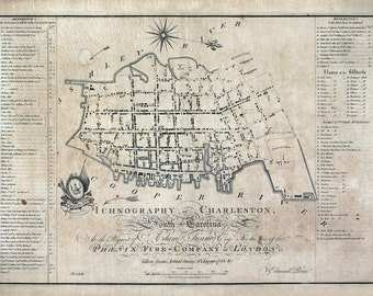 1788 Map of Charleston South Carolina