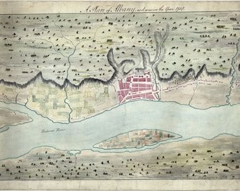 1758 Map of Albany New York