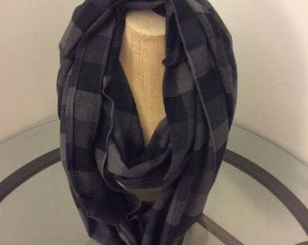 Shades of Gray Infinity Scarf