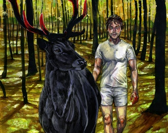 "SALE Ostara's Rite 12x16"" Will Graham original painting"