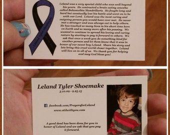 Leland's Pay it Forward Cards