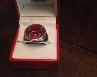Red Lantern Rage Green Lantern Ring Size 10