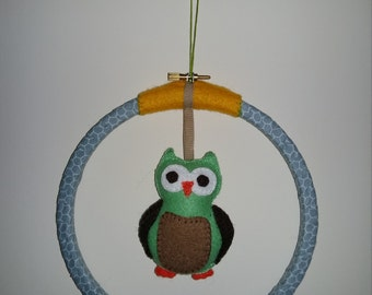 Woodland Owl wall hanging / wall art, nursery or child's bedroom