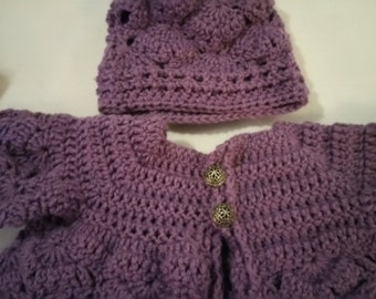 Infant sweater & hat set
