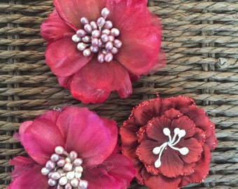 Red Shabby Flowers