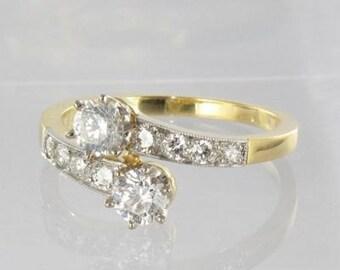 Ring you me diamonds Yellow Gold Platinum