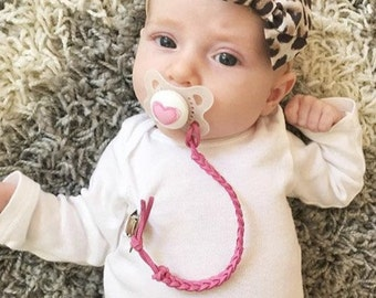 Perfect Pink Pacifier Clip