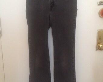 Vintage Faded Black Levis 517 Jeans