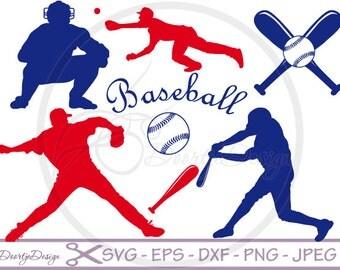 Baseball SVG for cutting machines, SVG files Baseball for Cricut, Clipart, Silhouette files, svg baseball, EPS Vinyl cut, Sports svg