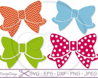 SVG files Bow, Cutting files, Svg Bows, Svg Files, SVG for Silhouette, Svg files Cricut, Scan N Cut, DXF files, eps files, chevron