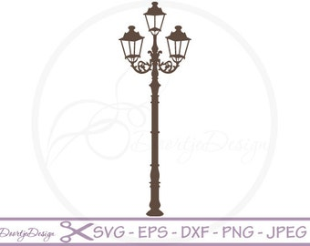 Street Light vector SVG files, Street Light cutting files, clipart Street Light, digital drawing, instant download, EPS files, png, ai