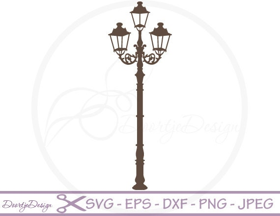 Street Light Vector SVG Files Cutting Clipart Digital Drawing Instant Download EPS Png Ai