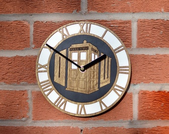 Doctor Who inspired wall clock Dr Who Tardis