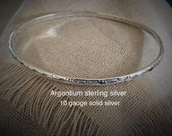 Sterling Silver Stacker Bangle Argentium Sterling Silver Bangle