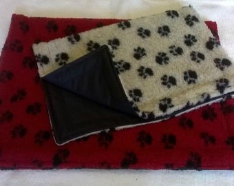 sherpa fleece waterproof backed thick dog blanket /cage mat