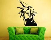 rvz1729 Wall Decal Sticker Anime Manga Girl Nursery Final Fantasy Hero Face featured image