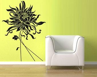rvz1074 Wall Vinyl Sticker Decal Flower Modern