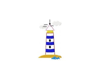Embroidery file Lighthouse 10 x 10