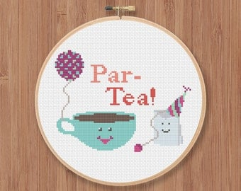 Par-Tea Cross Stitch Pattern