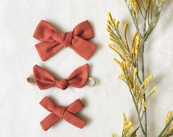 PERSIMMON - Fall Linen Solids | Select Style