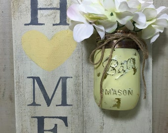 Home Heart with Mason Jar