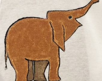Happy Elephant Hand Painted Gerber Onesie