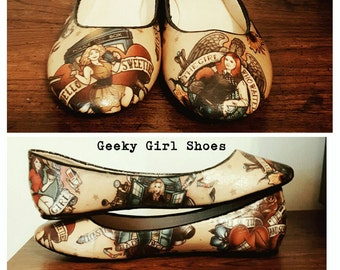The ladies of time and space custom shoes