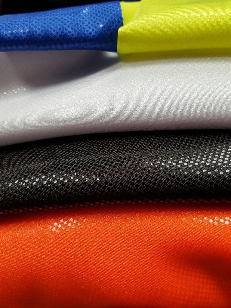 Clear dots on lycra spandex fabric sold by the yard for Lycra fabric