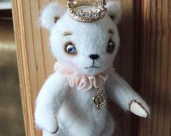 Great sale! Artist Teddy Bear White Princess