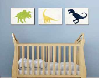Baby Boy Nursery - Dinosaur Nursery - Dinosaur Prints - Dinosaur Decor - Nursery Decor - Nursery Wall Art - Boy Nursery Decor - Boy Room Art