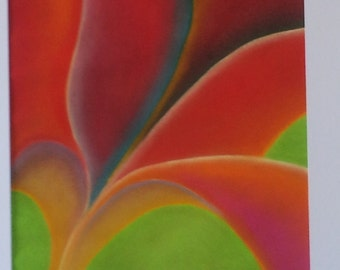 Greetings card - Petals in Pastel (blank for your own message)