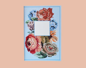Embroidered Flowers: ciel front cover/salmon back cover