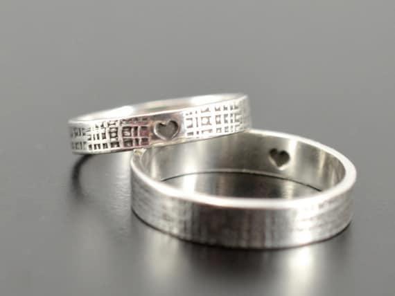 items similar to matching rings set of 2 rings