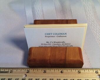 Wooden Business Card Holder, Cedar