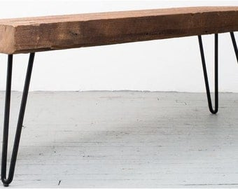 Reclaimed Lumber Hairpin Table