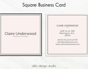 Business Cards, Square Business Card, Business Card Template, Minimal Business Card, Editable Template, Moo Template, Branding