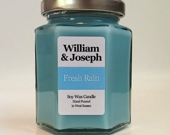 Fresh Rain Scented Soy Candle, Rain Candle, Water Candle, Soy Candle, Scented Candles