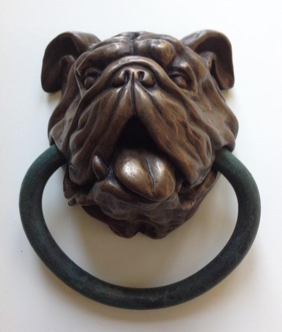 English bulldog doorknocker - Bulldog door knocker ...