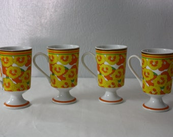 Vintage Set of FOUR Coffee Cups from the Frolic Avant Garde Japan Collection