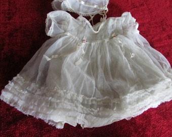 Doll hand sewn Vintage dress