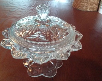Candy Dish on Pedstal with Lid