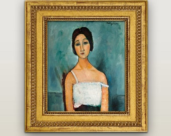 Amedeo Modigliani Print, Amedeo Modigliani Home Decor Wall Decor, Giclee Art Print Poster, Classic paintings, Great works of painting.
