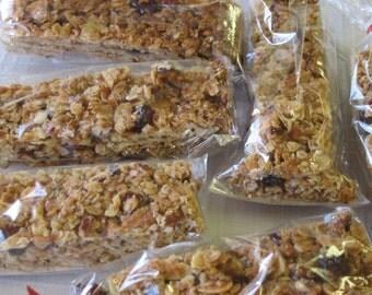 Homemade Cranberry Nut Granola Bars - set of six - made in Ohio, no preservatives